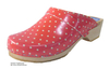 HT Clogs  Rot + Punkte
